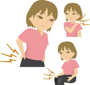腰痛・肩こり・膝の痛み